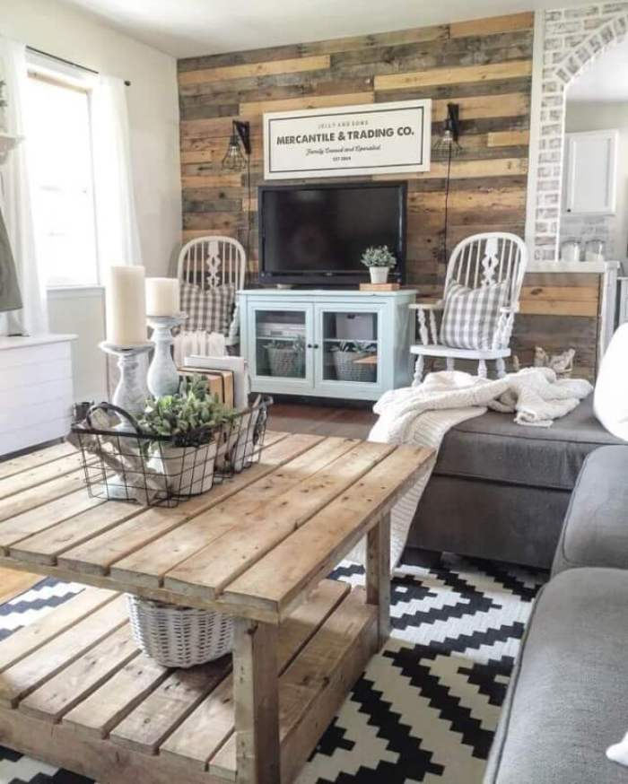 Simple Rustic Living Room