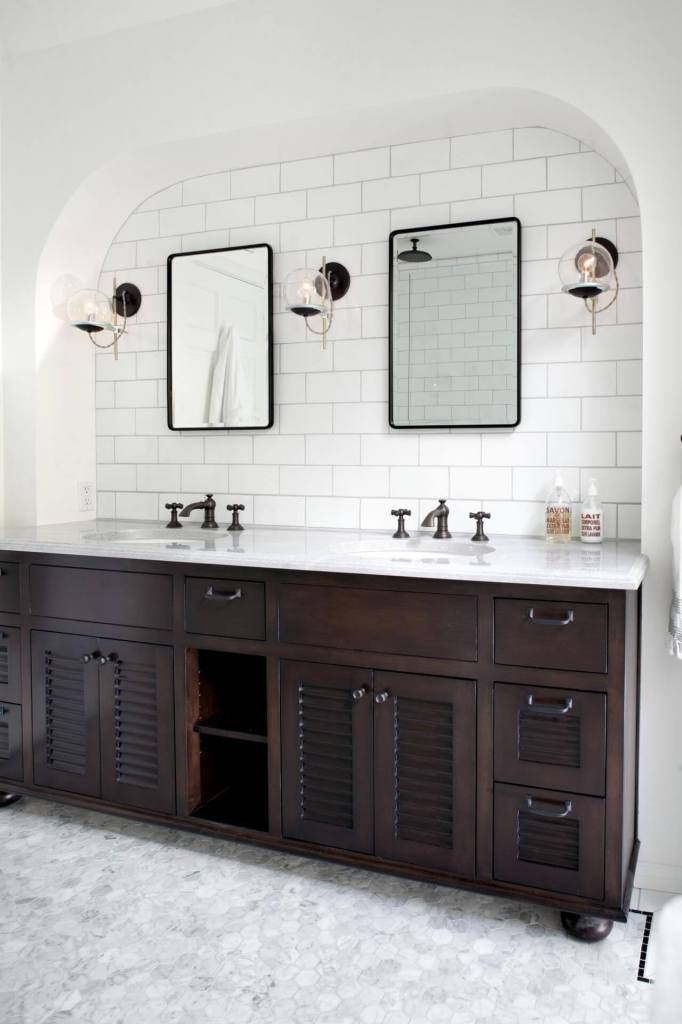 double apron sink bathroom vanity