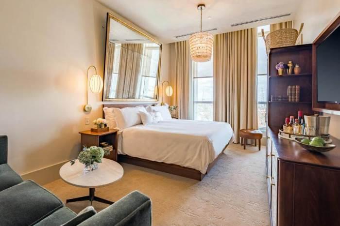 mid century modern bedroom style