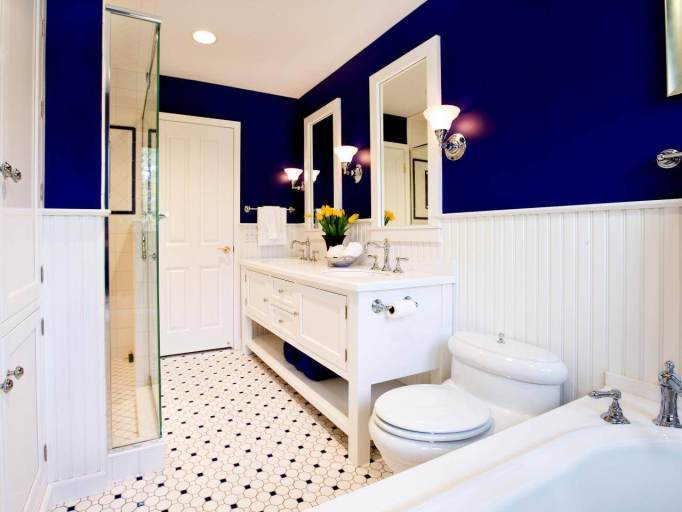 double sink bathroom vanity blue