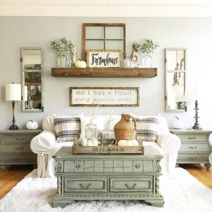 White Rustic Living Room