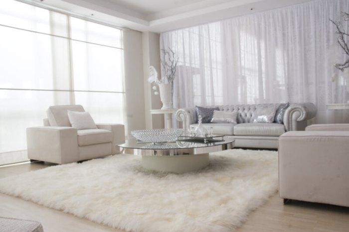 White and Silver Elegant Living Room