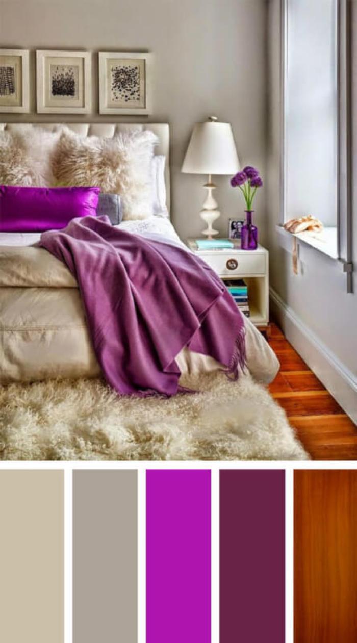 bedroom color schemes grey