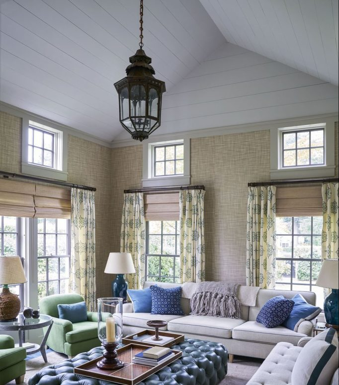 country living room curtain ideas