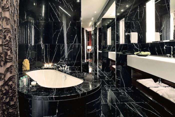 black marble bathroom