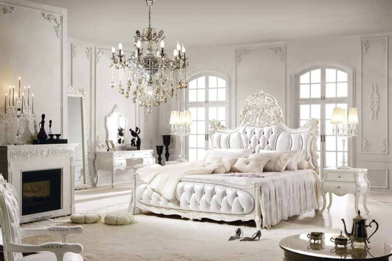 Superieur Go For Silvery White Luxury Bedroom