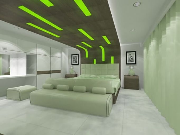 green bedroom decorations