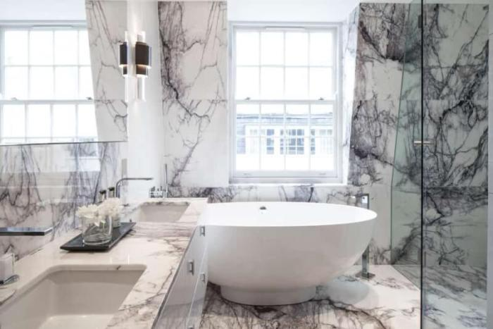 white marble bathroom accessories