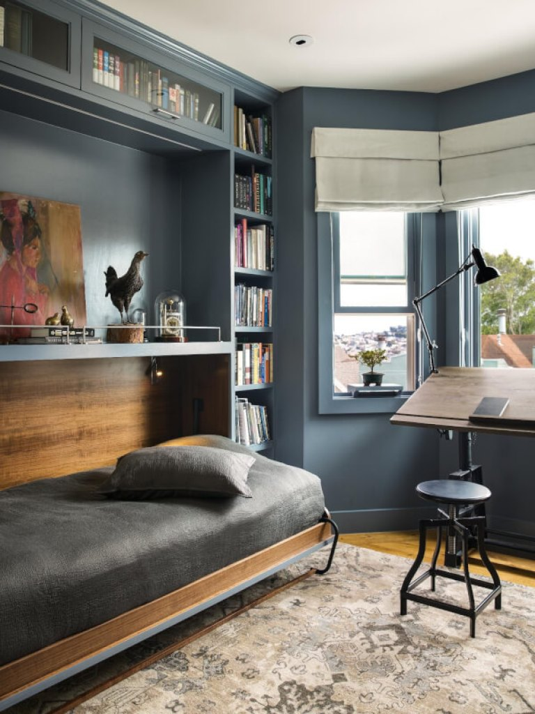 Industrial Guest Room with Office