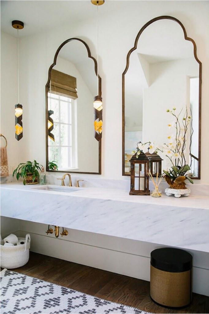 Moroccan Farmhouse Bathroom