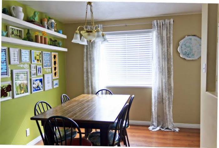 Long kitchen curtains