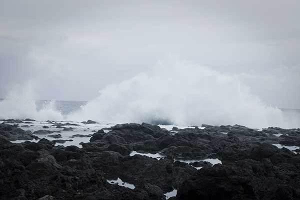 La Pointe au sel pendant le cyclone Gaël, en février 2009
