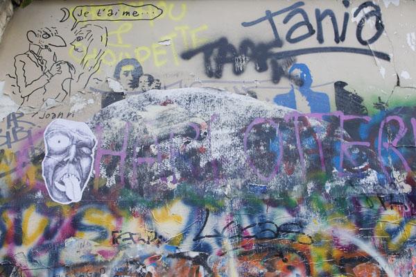 Dessin de Joann Sfar sur le mur de Gainsbourg
