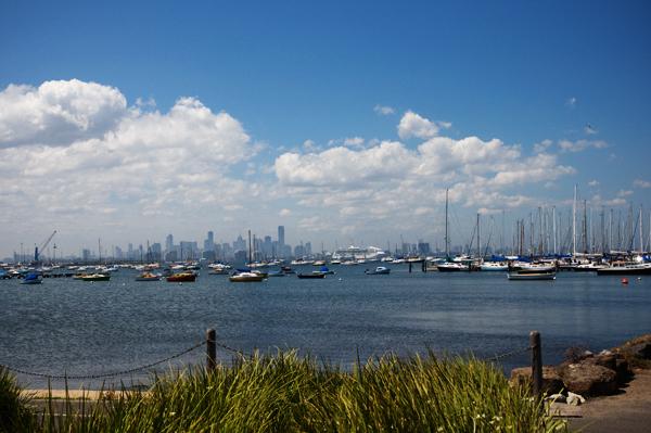 Melbourne depuis hobsons bay