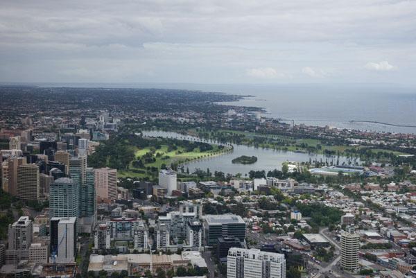 Melbourne vue du ciel tour Eureka