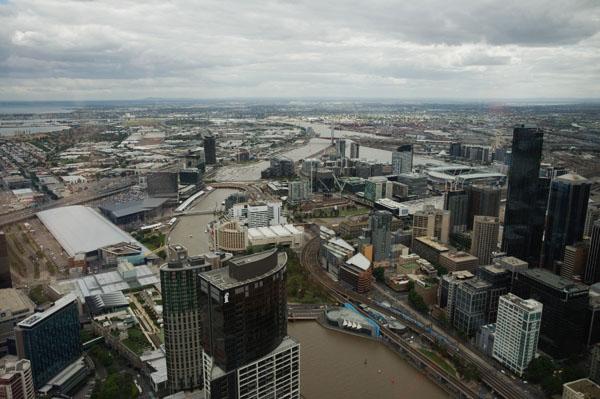 Vue sur Melbourne yarra river