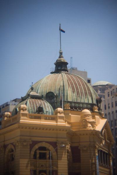 Le toit de Flinders Street Station