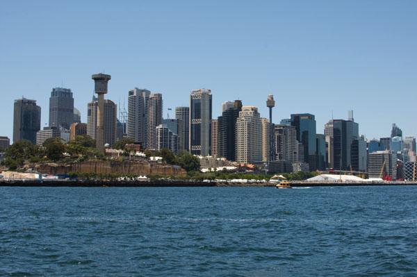 Point de vue sur Sydney depuis Cockatoo Island