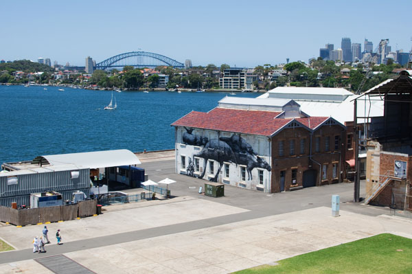 Cockatoo Island ile industrielle abandonnée à Sydney Australie