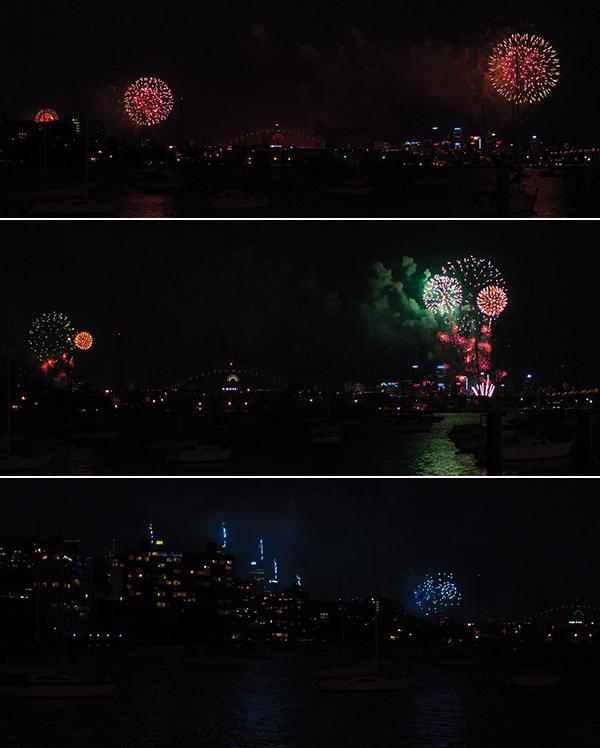 Fireworks NYE 2012 Sydney Australie