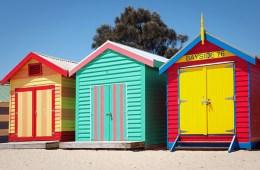 Bathing houses sur la plage de Sandringham à Melbourne