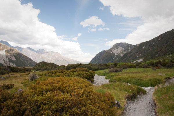 En randonnée pour Mont Cook