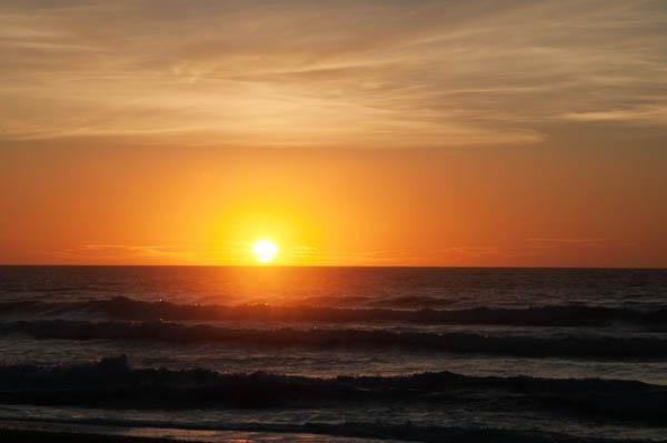 Coucher du soleil en Nouvelle-Zélande
