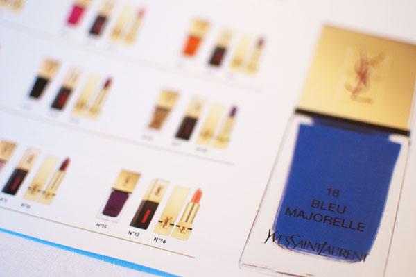 Laque couture YSL bleu majorelle