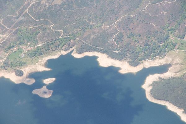 Les côtes du Portugal vue d'avion