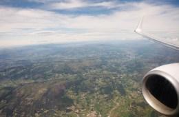 Survol de Porto en avion
