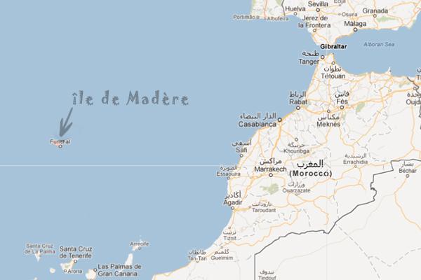Carte du monde avec Madère