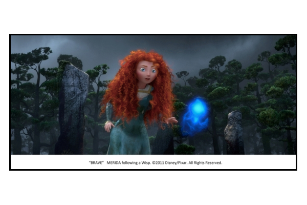 Merida dans Rebelle Disney Pixar