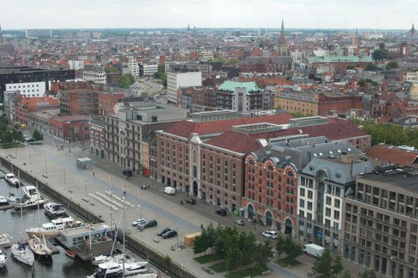 Panorama depuis le MAS à Anvers