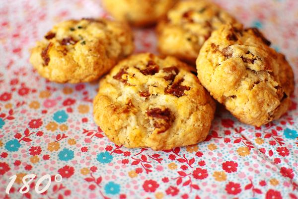 Recette cookies parmesan & tomates séchées