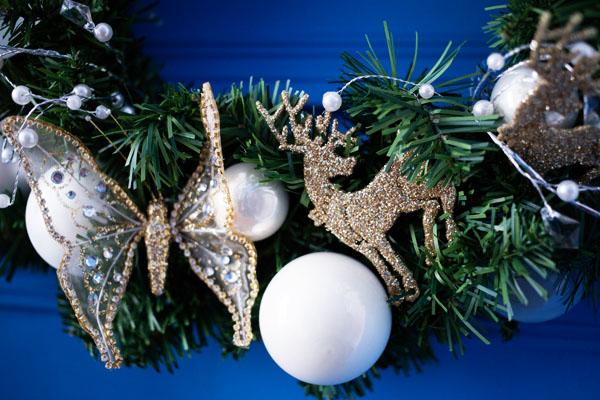Couronne de Noël avec Truffaut