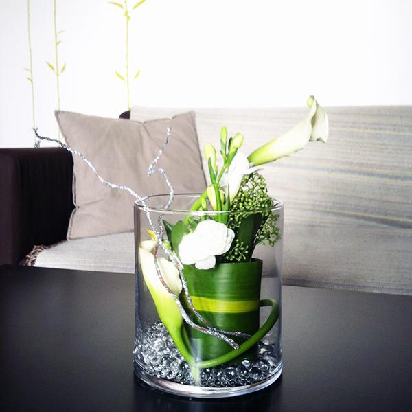 Composition florale de fête avec Truffaut