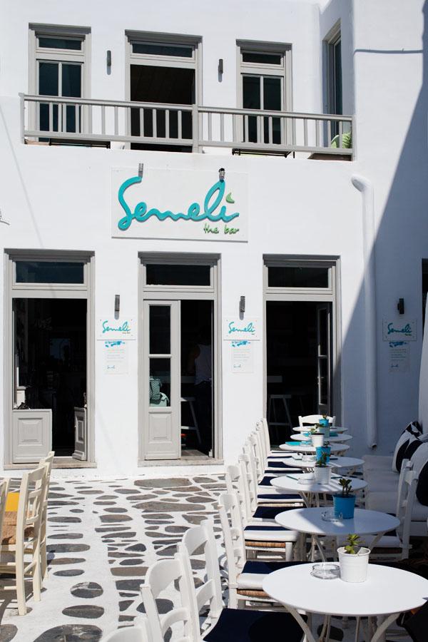 Bar de l'hôtel Semeli Mykonos