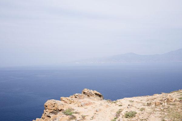 Phare de Fanari - Vue sur l'île de Tinos