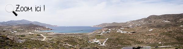 Panorama de la plage de Ftélia - Mykonos
