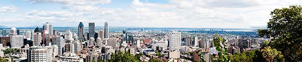 Panorama sur Montréal depuis le Mont Royal