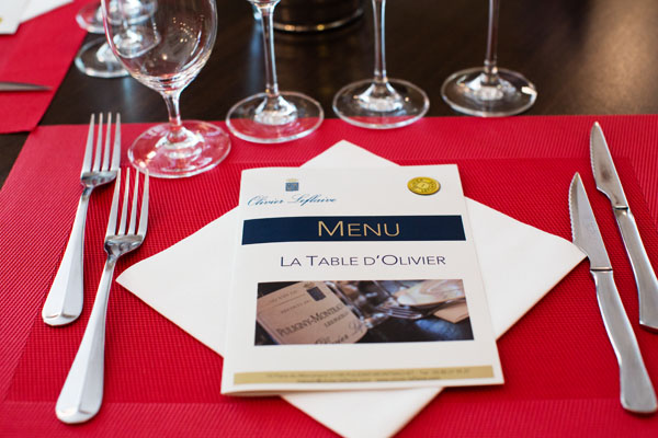Table Olivier Leflaive Puligny-Montrachet