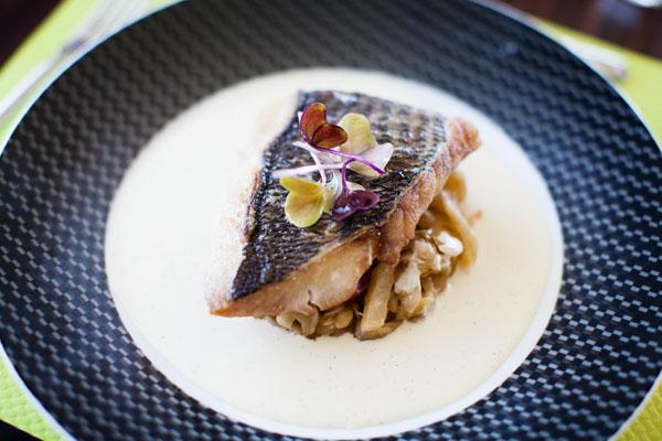 plat de poisson au Resto du Golf de Val-André