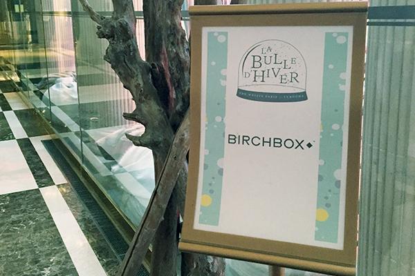 Présentation Birchbox Janvier 2017 à l'hôtel Westin