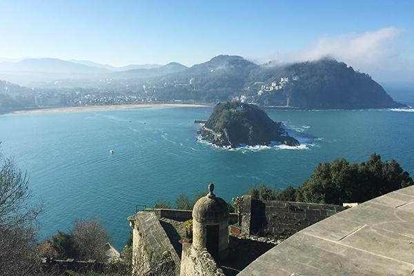 Vue panoramique dpeuis Mont Urgull San Sebastian