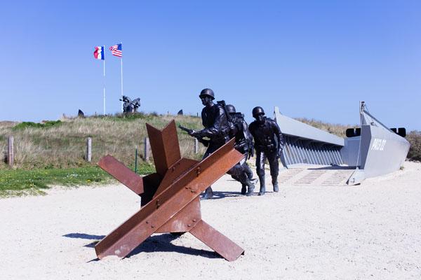 Plage du débarquement Utah Beach Normandie