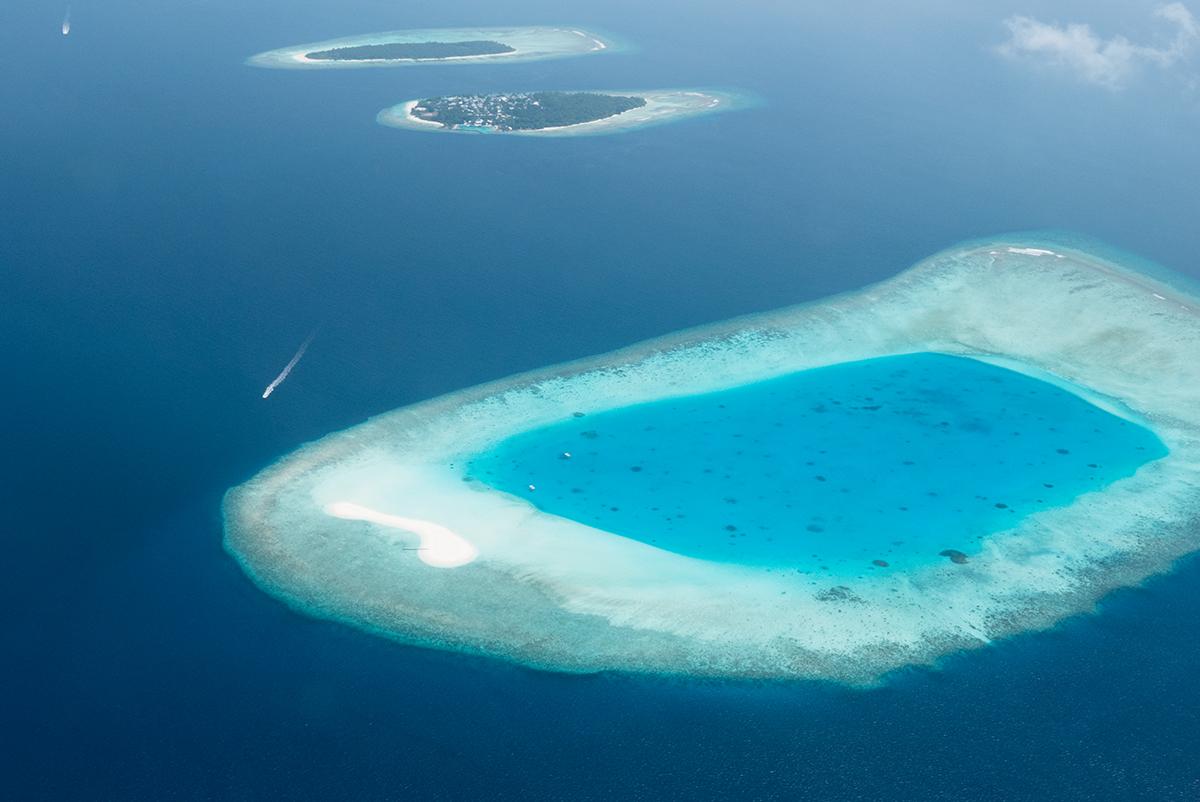 Dhigali Maldives en hydravion