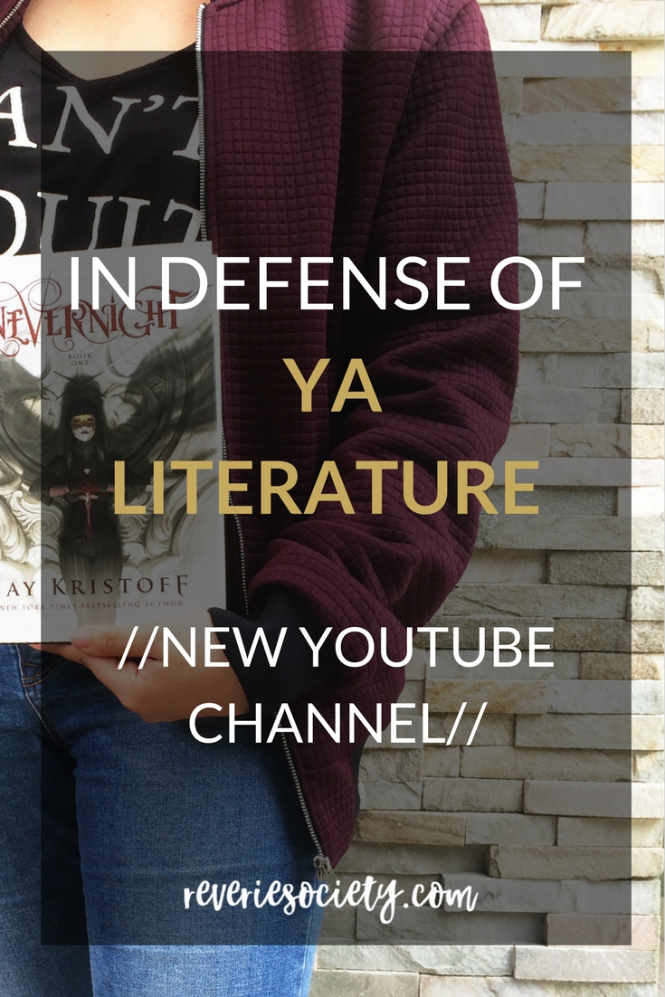 In Defense of YA Literature -New Youtube Channel
