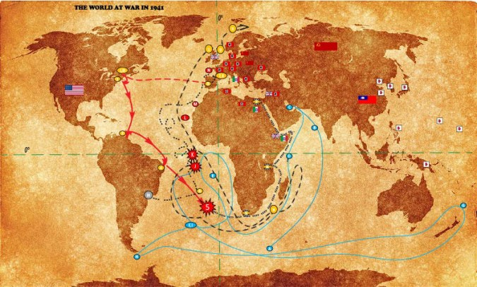 Ship Routes   Timelines   Reveriez Productionz Map 6  Combined War and Ship Route Map  see map legends from Maps 1
