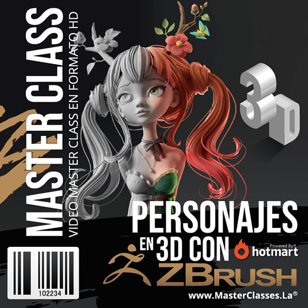 Personajes en 3D con ZBrush by reverso academy cursos clases