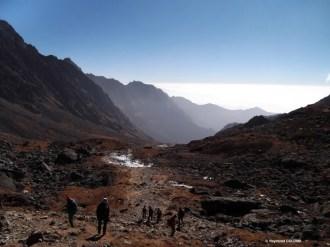 redescente du Gosaikhund, versant Gophte